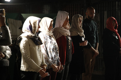 Participants await orders at A Day in the Life of a Refugee.