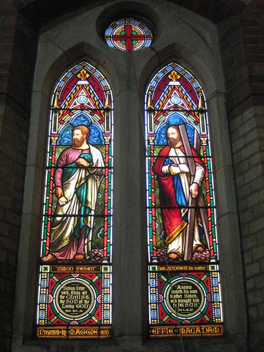 The Saint Simon Peter Window and the Saint Andrew Window by Ferguson and Urie; the Former Saint George's Presbyterian Church - Chapel Street, St Kilda East