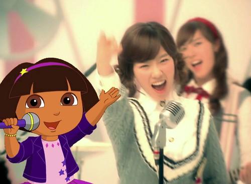 Dora singing with Girls' Generation [So Nyuh Shi Dae] 002