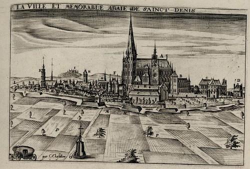 Saint-Denis, La ville et memorable abaie de sainct Denis (1600) - Claude Chastillon