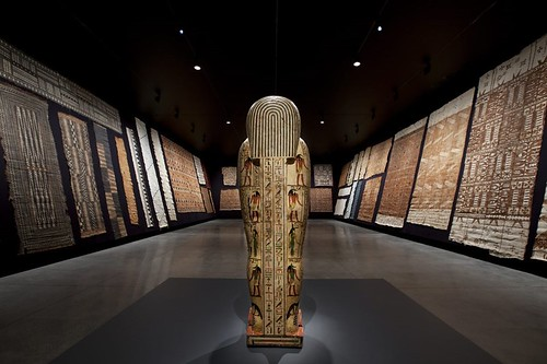 Bark Cloth Gallery with Coffin of Iret-Heru-Ru, Egypt 600-525 BCE.