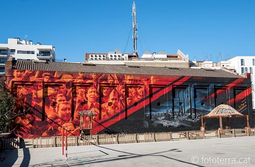 Mural commemoratiu centenari de la Vaga de La Canadenca
