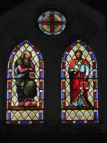 The Prophet Jeremiah Window and the Daniel Window by Ferguson and Urie; the Former Saint George's Presbyterian Church - Chapel Street, St Kilda East