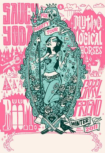 Saucy Yoda Winter Tour Gig Poster