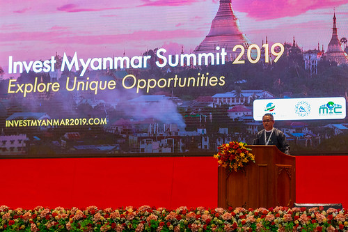Invest Myanmar Summit 2019 - U Aung Naing Oo, Director-General of the Directorate of Investment and Company Administration