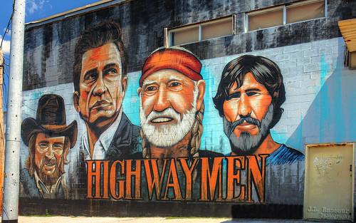 Highwaymen mural - Nashville, Tennessee