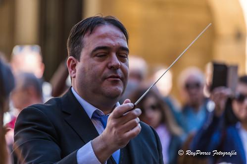 Unión Musical del Principado. PRIMER CERTAMEN DE BANDAS DE SEMANA SANTA. PAZA DEL AYUNTAMIENTO DE OVIEDO.