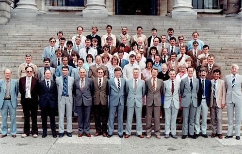 1984 RNZAF Directorate of Engineering Staff, Wellington (move cursor over faces to see names)