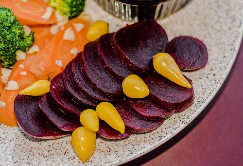 Healthy vegetarian beet plate