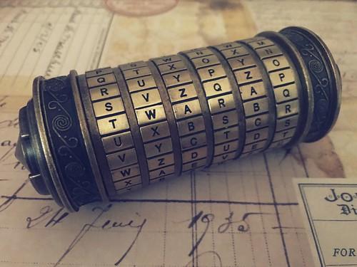 Corner of Curiosities #da Vinci code cryptex replica
