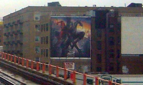 Spider-Man 3 (2007) billboard, Queens Boulevard, Sunnyside