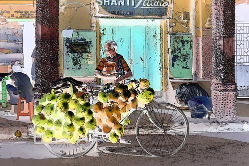 India - West Bengal - Kolkata - Coconut Seller - 113g