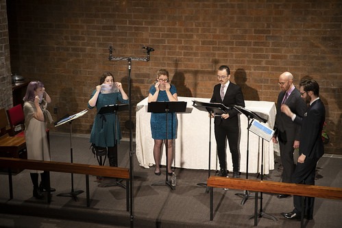 Ekmeles Vocal Ensemble performing at University Lutheran