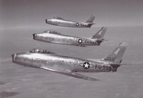 North American XP-86 Sabre (sn 45-59597,  45-59598,  45-59599)