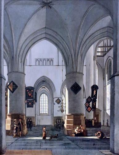 IMG_5662 Gerrit Adriaensz Berckheyde 1638-1698.  Haarlem The Interior of the Grote Kerk (Saint Bavo) , Haarlem.   Hambourg Kunsthalle.