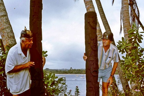 On the right Paddy Doyle, the first general manager of The Fijian Resort. On the left is John Banner (Seargent Schultz of Hogan Heroes)