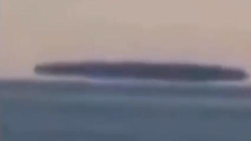 Mothership UFO Hovering Over Lake Michigan