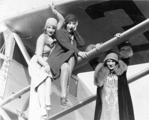 Ryan Brougham B-1 Flora Bramley, Ann Christy, Sally Eilers, WAMPAS Baby Stars, Rogers Field Los Angeles