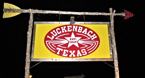 Colorful & Sweet Night Photo ~ Luckenbach, Texas