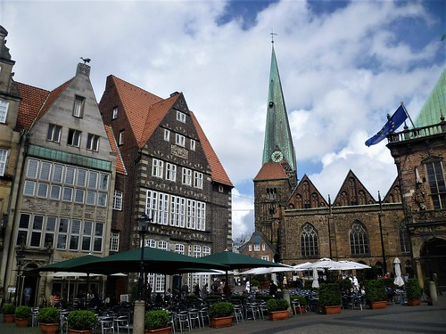 Bremen, City Municipality, Germany (the art of very historic places at the old center of Bremen), Am Markt