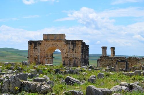 Volubilis (Oualili) - Arch of Caracalla (Triumphal Arch)