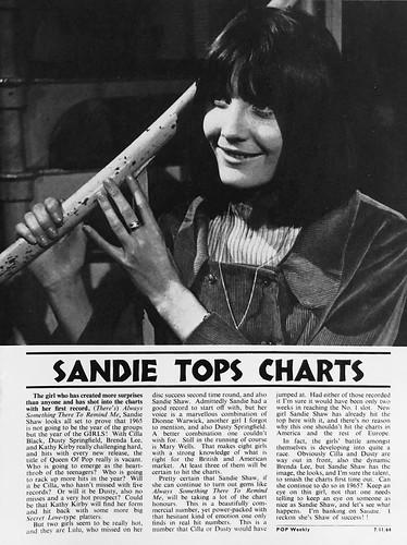 64-1107-09 - Sandie Shaw (Pop Weekly 3-11)