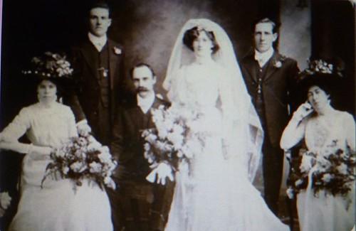 Marriage of Harry Beechworth Cutten and Christina Alice nee Bridge - Maylands, WA - 1910