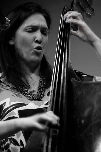 Katie Thiroux of the Katie Thiroux Trio, performing at Jazz on the Wing, Yukon Arts Centre, Whitehorse Yukon, March 24, 2019.