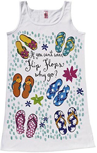 Flip Flops Sleeveless Beach or Pool Cover-Up in Gift Bag
