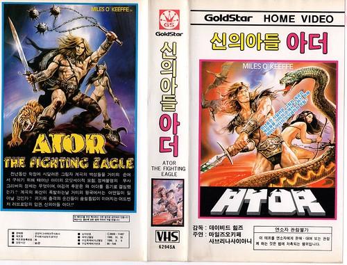 Seoul Korea vintage VHS cover art for cult sword-n-sorcery pic