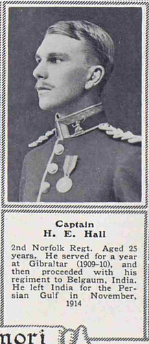 Captain Humphrey Evans Hall 2nd Norfolks Killied in Action Ctesiphon 1915