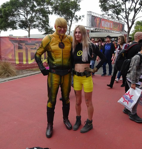 Reverse Flash and Terra from the Teen Titans