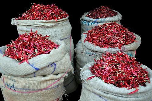 India - Karnataka - Mysore - Devaraja Market - Chili - 24d