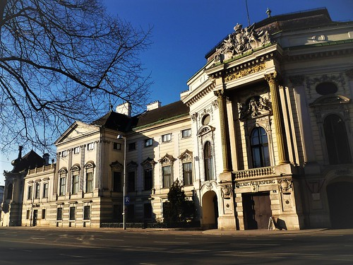 Wien, 8. Bezirk (the art of very historic streets and palace buildings in the suburbs of Vienna) - Auerspergstraße/Lerchenfelder Straße (Palais Auersperg)
