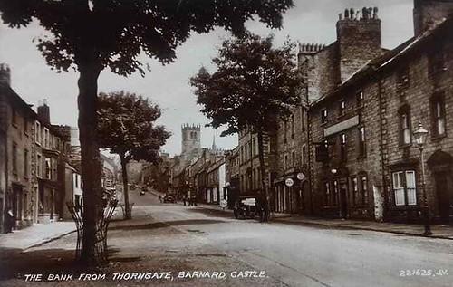 Vintage postcard,real photo,York,Thorngate,Barnard Castle,1946,Posted