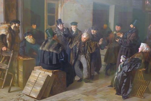 XE3F4834 - Jokers. Gostiny Dvor in Moscow (1865), by Illarion Pryanishnikov