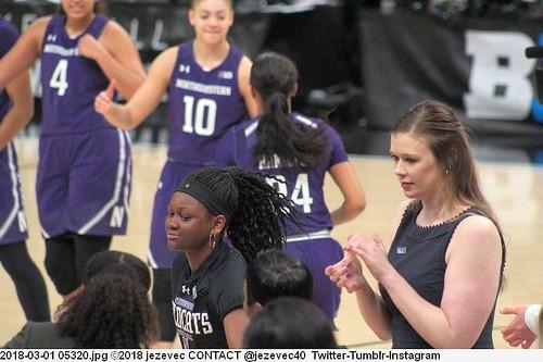 2018-03-01 05320 WOMEN'S BIG TEN BASKETBALL - Northwestern and Iowa