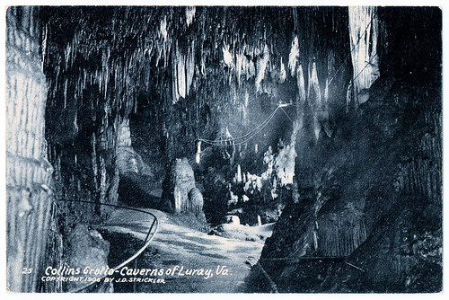 Virginia - Caverns of Luray - Collins Grotto in 1906