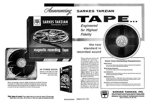 Sarkes Tarzian recording tape