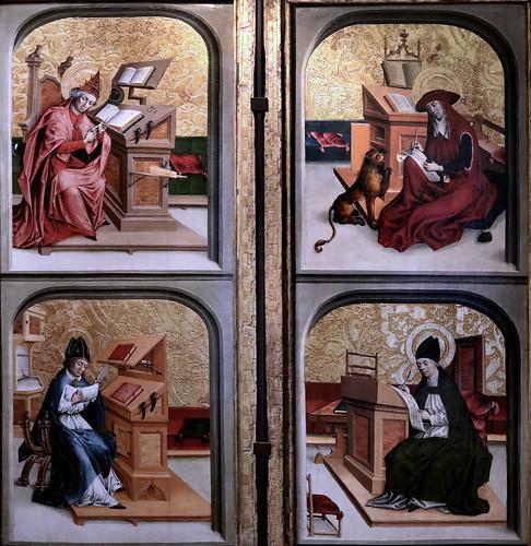 IMG_1200KYA X Suisse vers 1480 Saints Grégoire et Ambroise Saints Jérôme et Augustin Dijon Musée des Beaux Arts