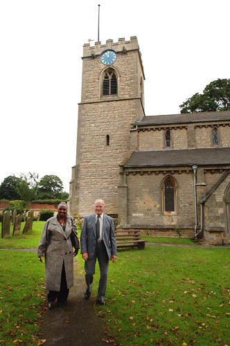 DSC_5066 Scawby Parish Church of Saint Hybald's North Lincolnshire Dorothy Masuka Southern Africa Singer with my Dad Geoff Spafford. May they both Rest in Peace RIP