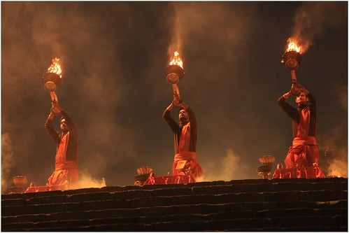 India Travel Photography: Aarti Ceremony, Nada Sadhus & burning Ghats at Varanasi 2019 Benares.008 by Hans Hendriksen