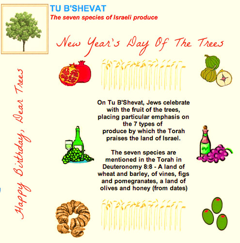 Happy Birthday, Dear Trees  >><<  This Coming Sunday Evening Is Tu B'Shevat >><< New Year's Day Of The Trees