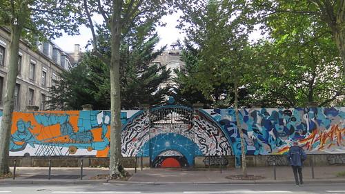 Street art in Paris 14th by Retro Graffitism, Hobz, Katre, Arnaud Liard and Zeky