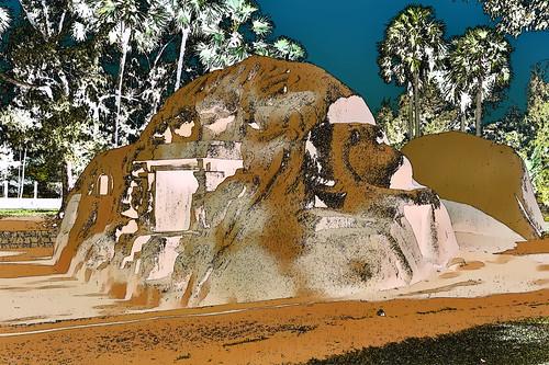 India - Tamil Nadu - Mamallapuram - Tiger Cave - 9f