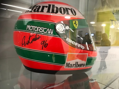 Eddie Irvine's Helmet in Ards And North Down Hall Of Fame in Ards Blair Mayne Wellbeing And Leisure Complex
