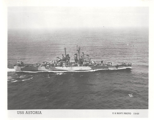 USS Astoria (CA-34), Heavy Cruiser, WWII