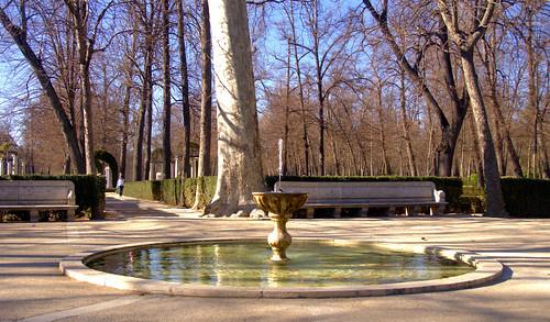 FUENTE DEL RELOJ, JARDIN DE LA ISLA, PALACIO DE ARANJUEZ, MADRID 8993 2-3-2019