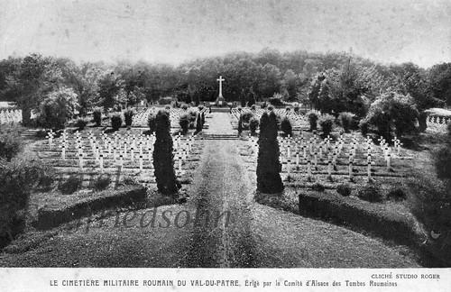 Val-du-Pâtre (Schaefertal)/Alsacia, FRANȚA (perioada interbelică). Cimitirul prizonierilor români de război capturați de nemți în Transilvania în anul 1916.