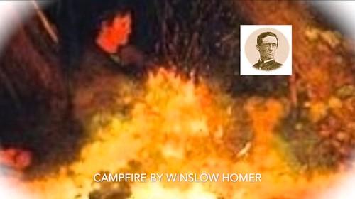 30. Winslow Homer campfire